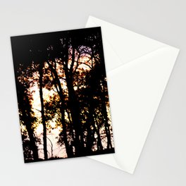 Prairie trees at Sunset Stationery Cards