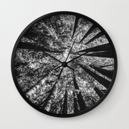 Up Above (Black and White) Wall Clock