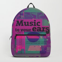 Music To Your Ears (mixed media) Backpack