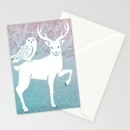 Winter In The White Woods Stationery Cards