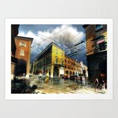 Rain Over Via Emilia Art Print