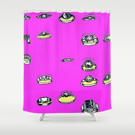 Ringing Engagement Shower Curtain