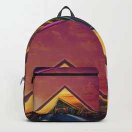 Bridge of a Thousand Colors, a Beautiful Rainbow Fractalscape Backpack