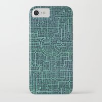 blueprint iPhone & iPod Cases featuring Apple Blueprint by Rutmer
