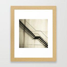 Stairs at storage tank Framed Art Print