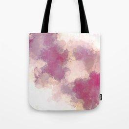 Mauve Dusk Abstract Cloud Design Tote Bag