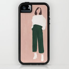 Pink + Green iPhone Case