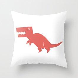 Dinomania - The T-Rex Throw Pillow