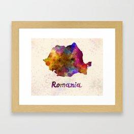 Romania in watercolor Framed Art Print