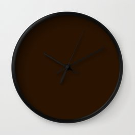 4d301a .Dark chocolate Wall Clock