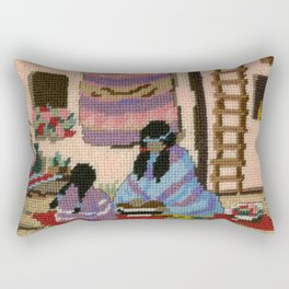 Cross Stitch Southwest Art by Kathy Morton Stanion Rectangular Pillow