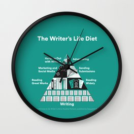 The Writer's Life Diet Wall Clock