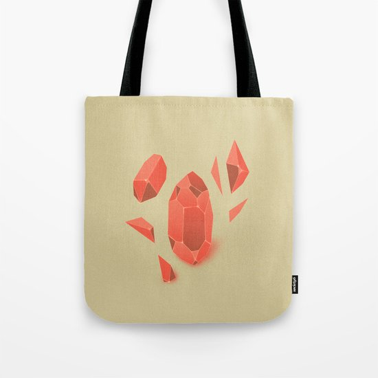 Falling Crystals Tote Bag