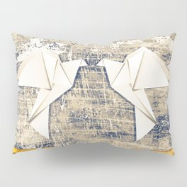 Pair of paper pigeons Pillow Sham