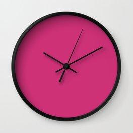 Pink Yarrow Wall Clock