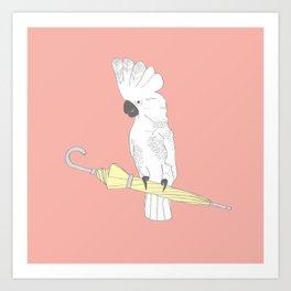 """'Umbrella Cockatoo"""" Illustration Print Art Print"""
