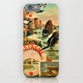 Bretagne Brittany Hugo d'Alesi 1895 French travel iPhone Case