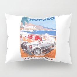 1936 Monaco Grand Prix Race Poster  Pillow Sham