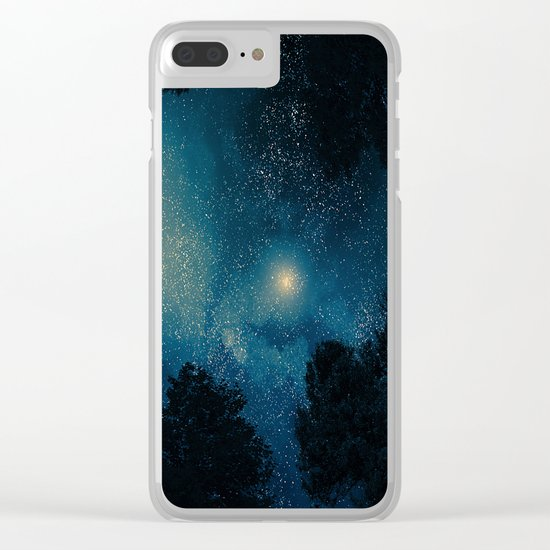 Stars & Trees Clear iPhone Case