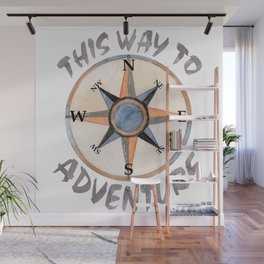 Adventure This Way Wall Mural