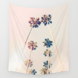 Vintage Pastel Palm trees Wall Tapestry