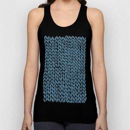 Hand Knit Niagra Blue Unisex Tank Top