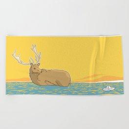 A deer (2) Beach Towel