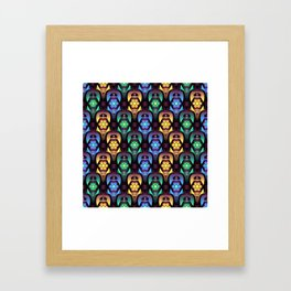 Colorful Moroccan Lanterns Pattern Framed Art Print