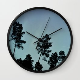 Fog and Forest IV-wood,mist,romantic, greenery,sunset,dawn,Landes forest,fantasy Wall Clock