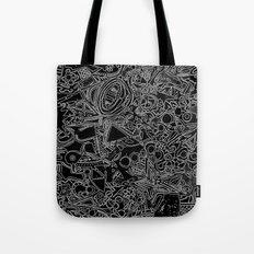 White/Black #1 Tote Bag