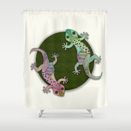 Gecko Watercolor and Ink Edition 1 Shower Curtain