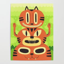 Totem Cat Poster