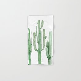 Three Amigos White + Green by Nature Magick Hand & Bath Towel