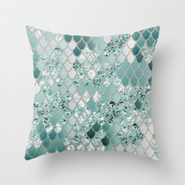 Mermaid Glitter Scales #3 #shiny #decor #art #society6 Throw Pillow