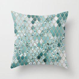 Mermaid Glitter Scales #3 #shiny #decor #art #society6 Throw Pillow