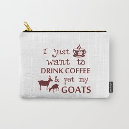 Coffee & Goats Carry-All Pouch