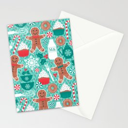 Gingerbread Christmas Treats Stationery Cards