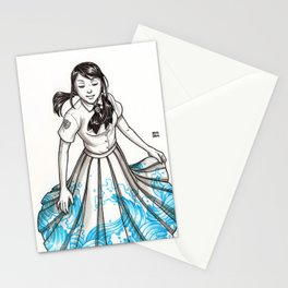 Elemental Schoolgirls  -  Waves Stationery Cards