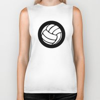 volleyball Biker Tanks featuring Volleyball Ideology by ideology