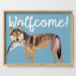 Totem Coastal wolf (Vancouver Wolf) Serving Tray