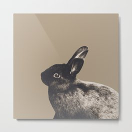 Little Rabbit on Sepia #1 #decor #art #society6 Metal Print