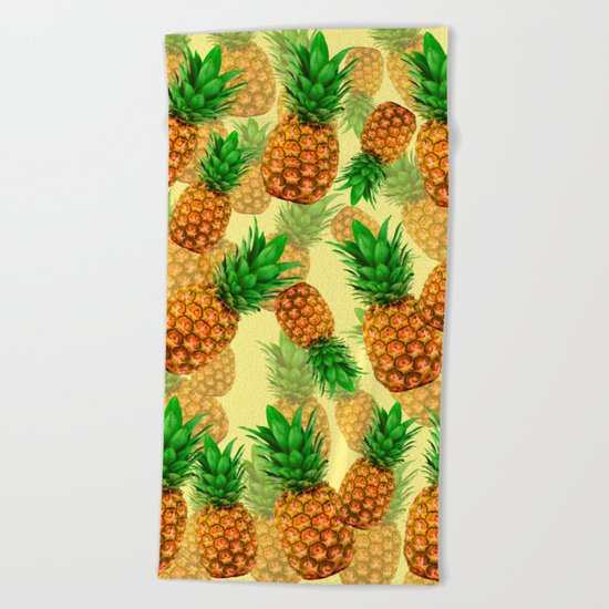 Pineapple Party Beach Towel