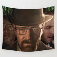 breaking bad Wall Tapestries featuring Breaking Bad by SB Art Productions