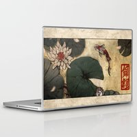 lotus Laptop & iPad Skins featuring Lotus by Corinne Reid