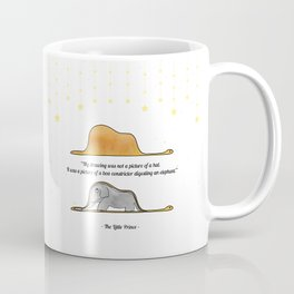 The Little Prince, under stars, a hat or a boa constrictor? Coffee Mug
