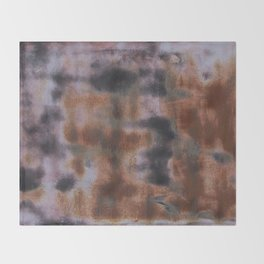 Copper and Iron abstract pattern Throw Blanket