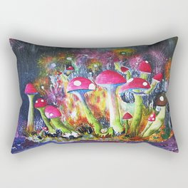 Who loves Mushrooms? Rectangular Pillow