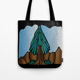 Stained Glass Fir Tote Bag