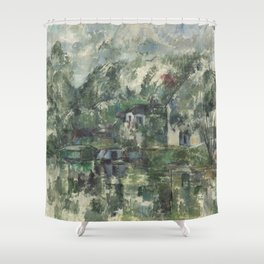 Paul Cézanne - At the Waters Edge - French Postimpressionist Fine Art - Cezanne Shower Curtain