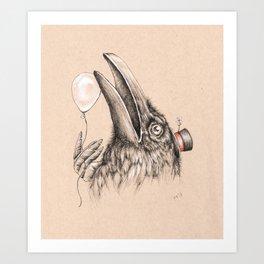 Birthday Crow Is Your Happy Omen Art Print